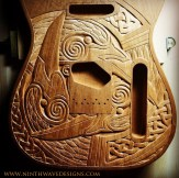 The third raven is carved.