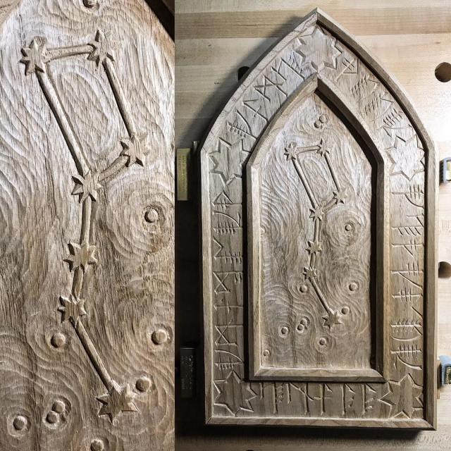 I finished carving the Ursa Major panel last night Ihellip