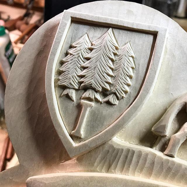 Im carving another one of these little shields for ahellip