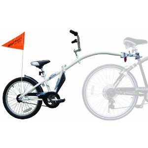 Bicycle trailer for teaching the kids balance