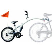 Cycling with small children, This tagalong half bike trailer is great for beginner cyclists of up to 6 years of age