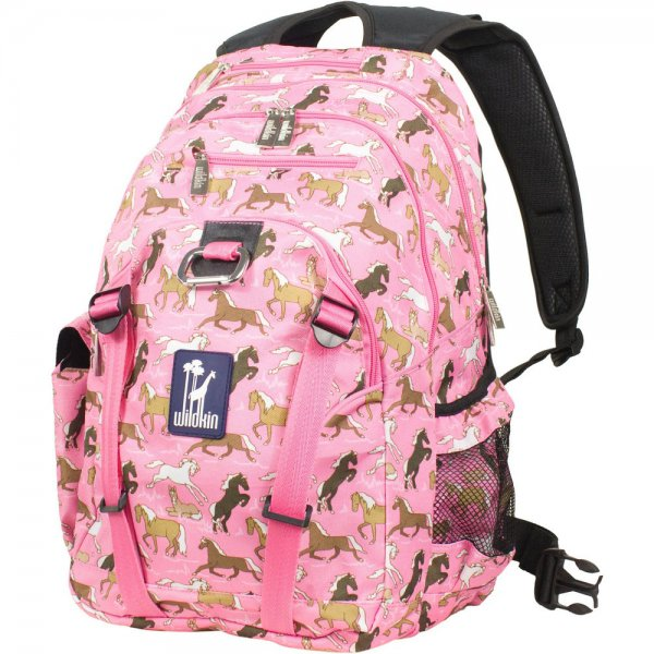 Girls backpack with horse prints