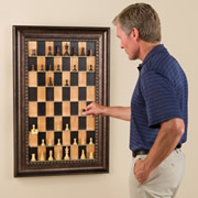 up the wall chess set, vertical chess set,