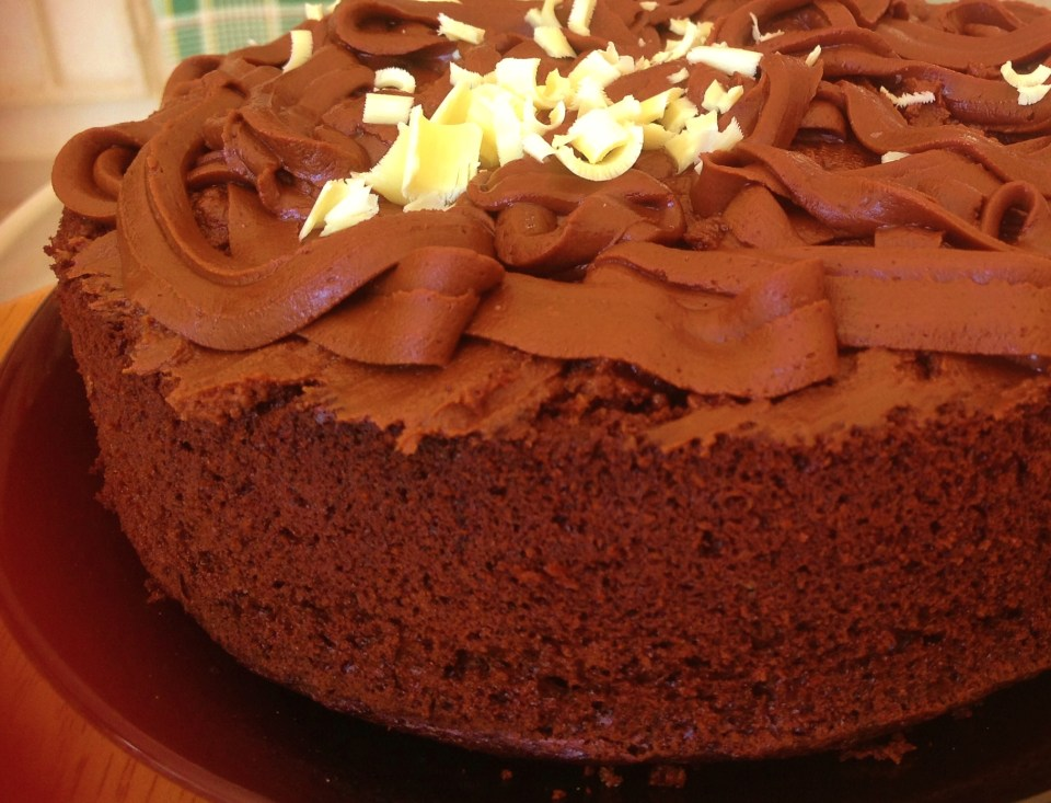 delicious chocolate cake using green tea powder for its antioxidant and slimming effects