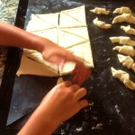 butter croissants how to cut the dough and roll the crescents