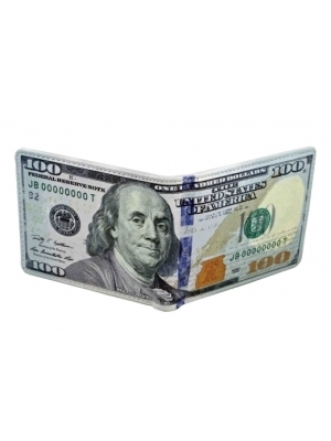 wallet with 100 dollar bill design