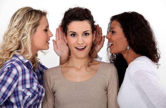 Women sharing secrets