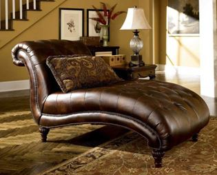 home decoration, antique sofa, day longer brown leather, elegant sofa