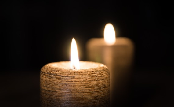 burning candles indoors