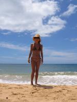 Chie at Kekaha beach