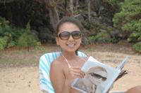 Chie at Moloa'a beach