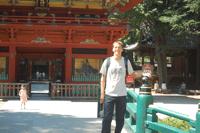 Johan at Nezu temple.
