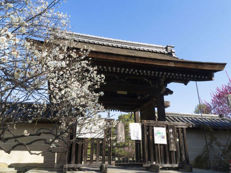 L'entrée des jardins du sanctuaire. L'entrée est de 550 ¥ pour les adultes et de 350 ¥ pour les enfants.