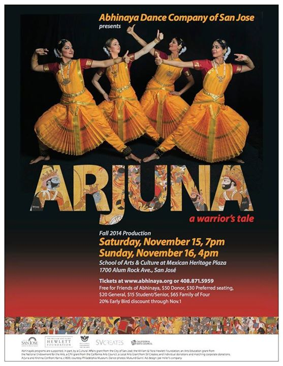 """Arjuna""- A dance production by Abhinaya Dance Company of San Jose"