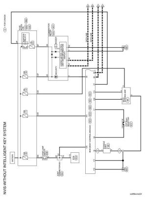 Nissan Rogue Service Manual: Wiring diagram  Without