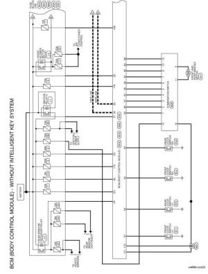 Nissan Rogue Service Manual: Wiring diagram  Without