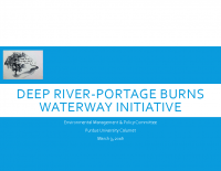 Deep River-Portage Burns Waterway Initiative Update (Mar 2016)