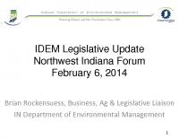 IDEM 2014 Legislative Update (Feb 2014)