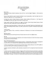 February 15, 2018 – Executive Board
