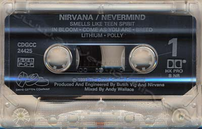 Image result for nevermind cassette