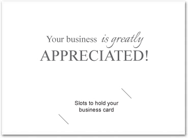 Business Thank You Cards With Slots Business Greeting Cards