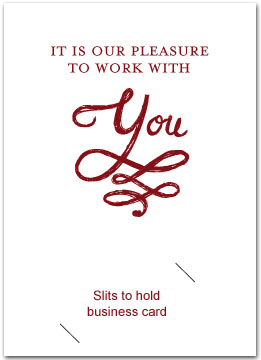 Thank You Cards With Slits For Business Card Busines