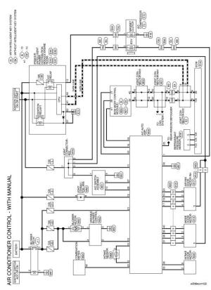 Nissan Sentra Service Manual: Wiring diagram  Manual air conditioner  Heater & air