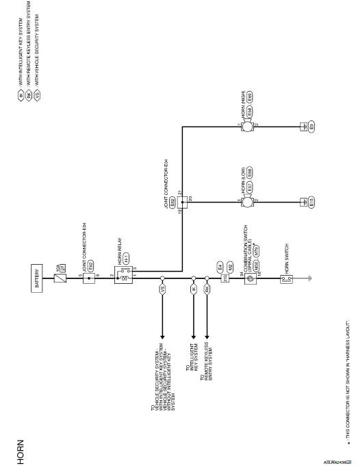 nissan sentra service manual wiring diagram  horn  driver