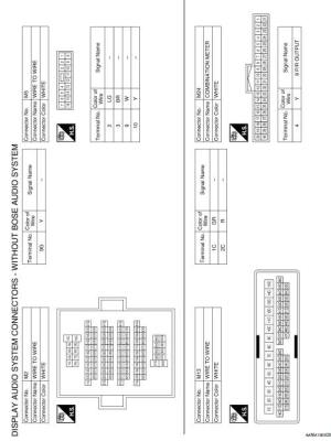 Nissan Sentra Service Manual: Wiring diagram  Display audio without bose  Audio, visual