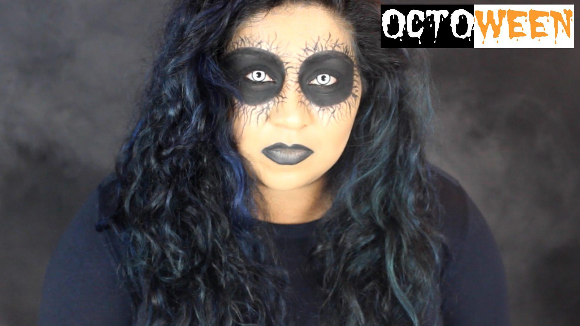 fallen angel halloween makeup tutorial| octoween | nishi v