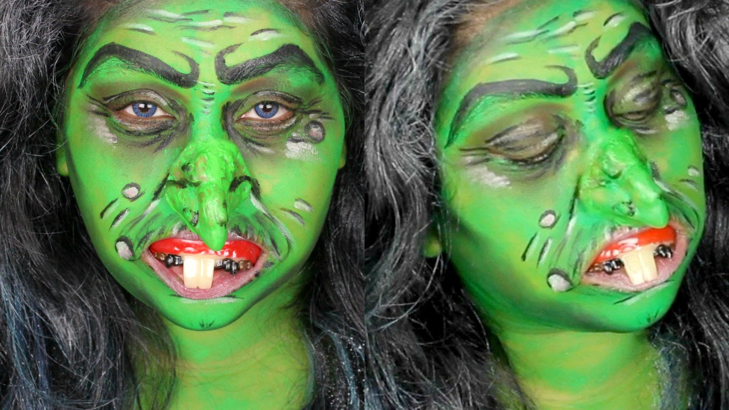 Easy halloween witch makeup tutorial ad nishi v easy halloween witch makeup tutorial ad baditri Images
