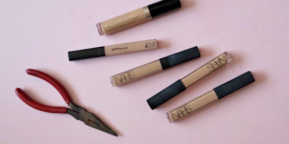 concealer hack, beauty hack, how to get more concealer out, nishi v, www.nishiv.com
