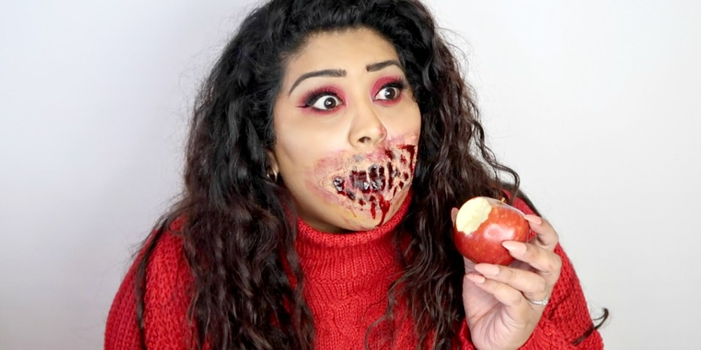 DISNEY SNOW WHITE POISONED HALLOWEEN SFX MAKEUP, nishi v, www.nishiv.com
