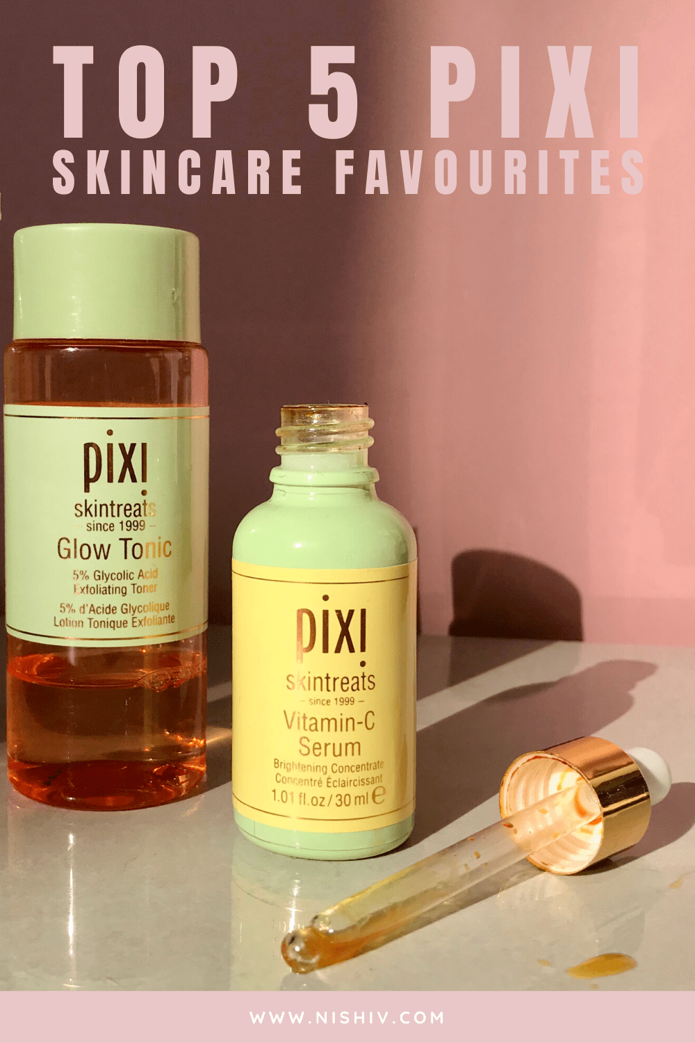 5 Pixi Skincare products