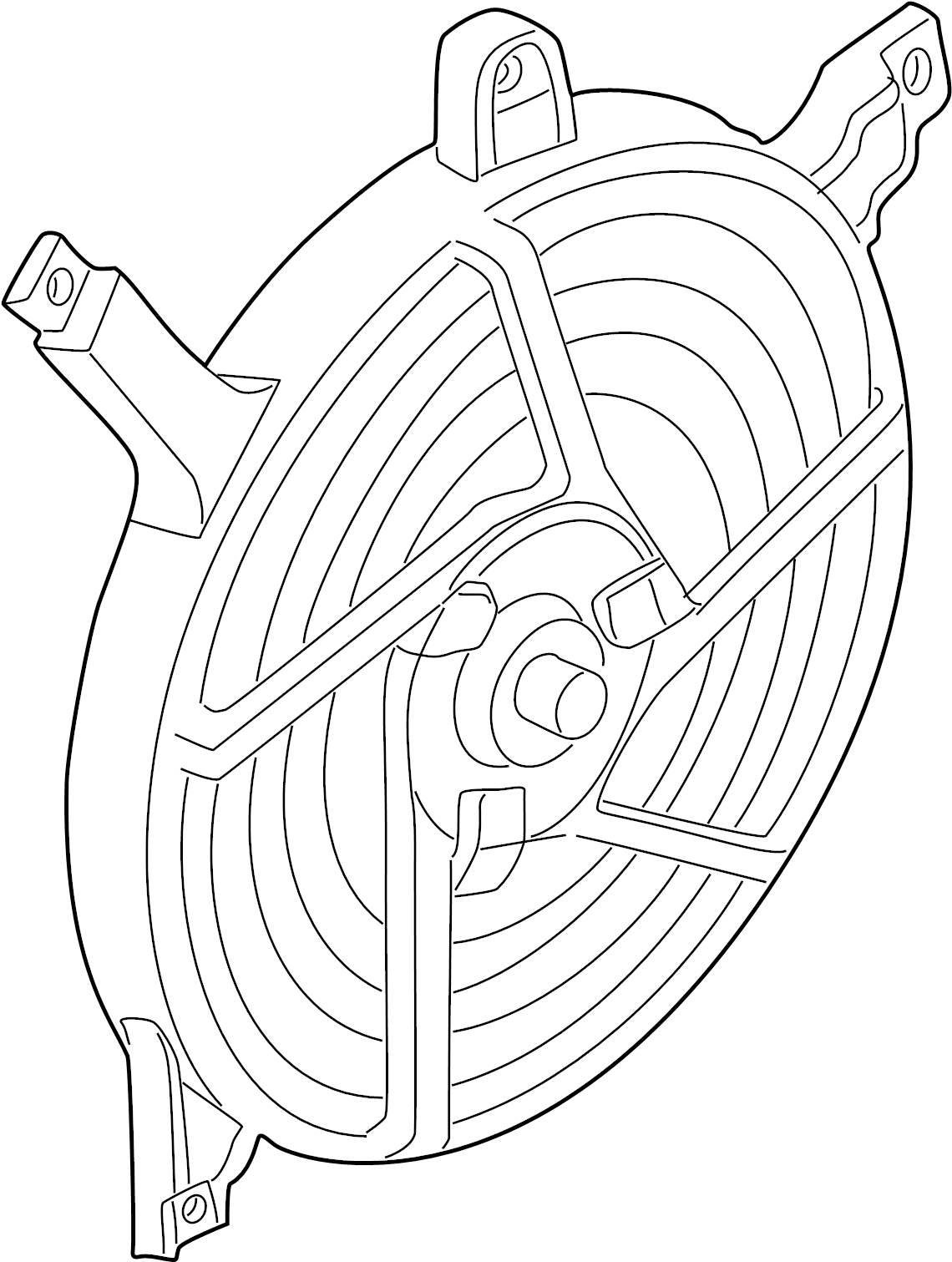 Nissan Frontier A C Condenser Fan Fitting Hose Shroud