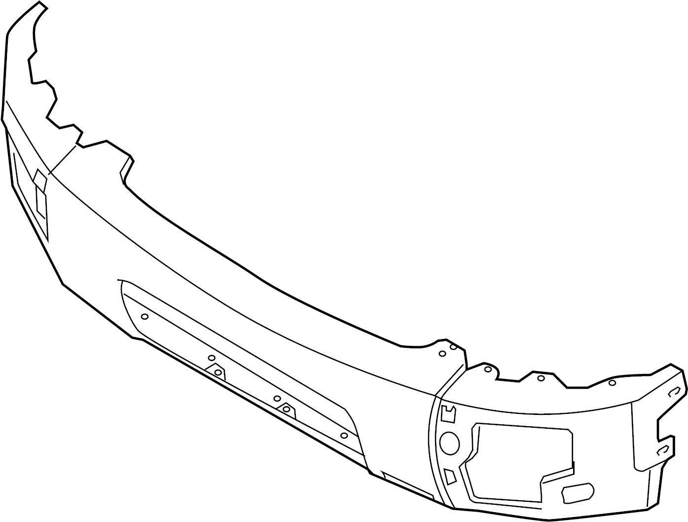Nissan Titan Bumper Face Bar Front Chrome Pro