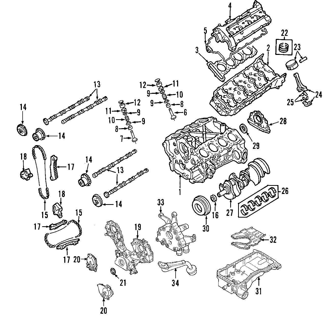Nissan Armada Engine Valve Spring Retainer