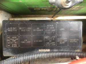 Y61 48 Fuse box engine bay