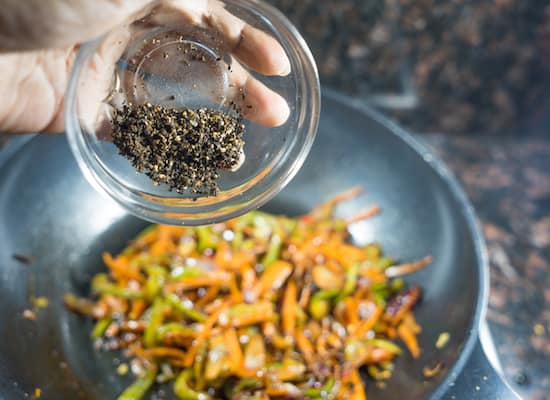 Add in Pepper powder depends on your spice level!!