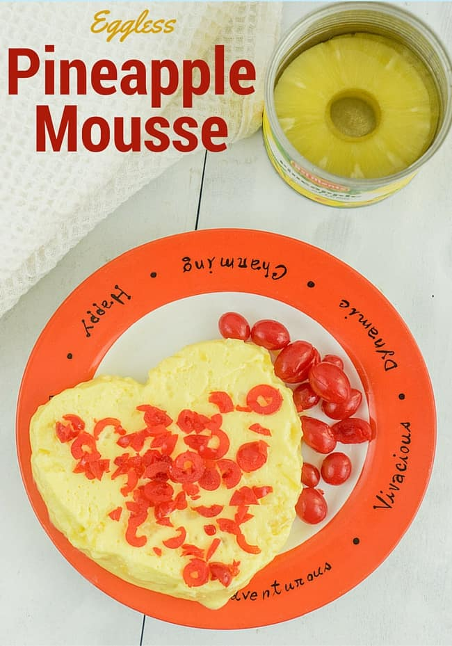 Eggless Pineapple souffle | pineapple mousse recipe