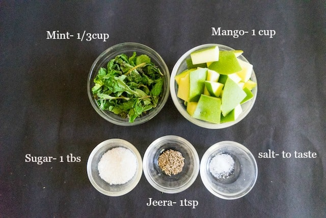 These all the ingredients for aum-aur-pudhina -pana. Lets start making..