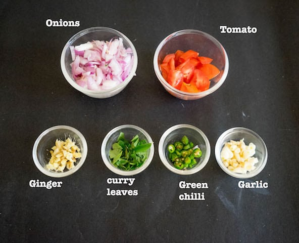 get all the ingredients for the masala.