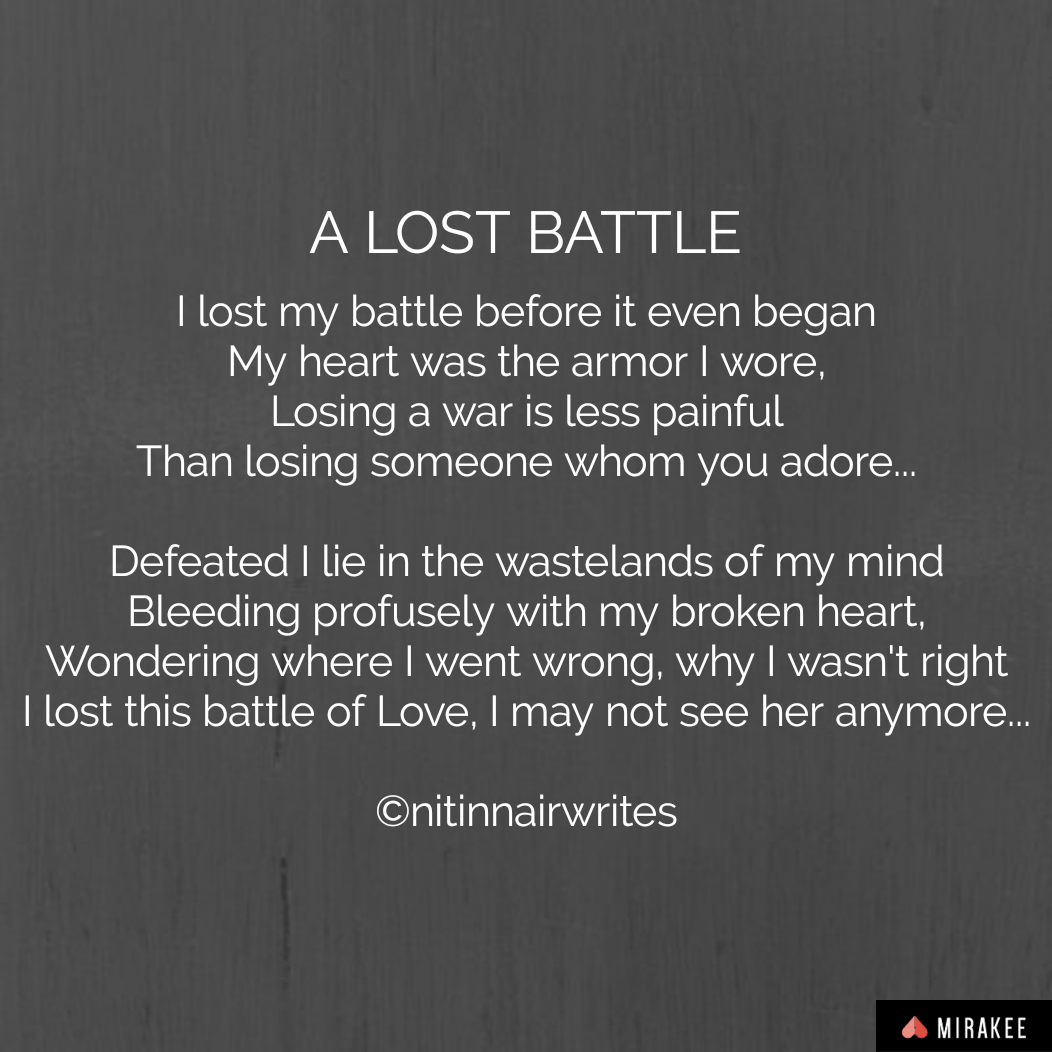 A Lost Battle - Short Poem