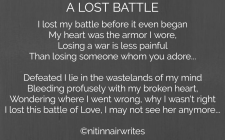A Lost Battle - Shorts - NitinNairWrites