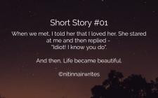 Story 01 - Shorts - NitinNairWrites