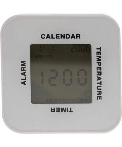 回転させて4つの機能 デジタル置き時計(NキューブLH)