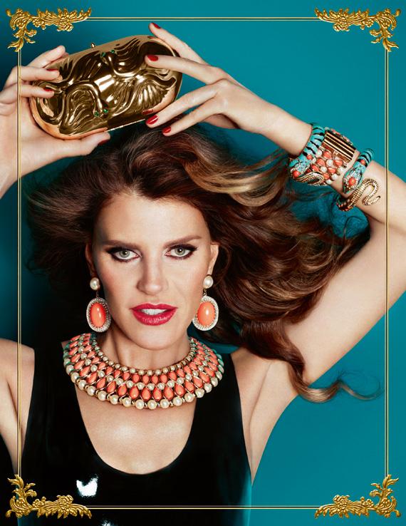 Anna Dello Russo at H&M Campaign