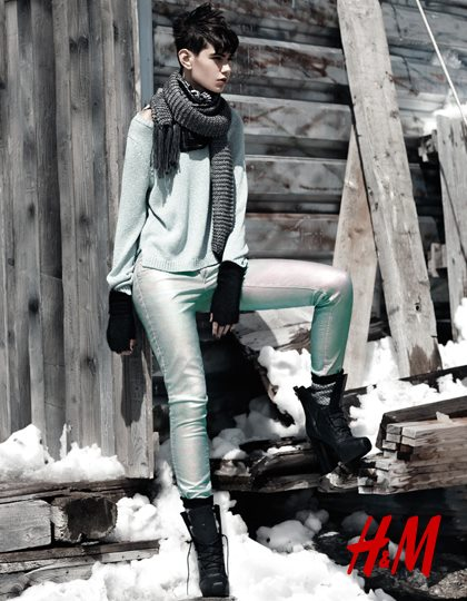 H&M Holiday 2012 Ad Campaign featuring Daria Werbowy