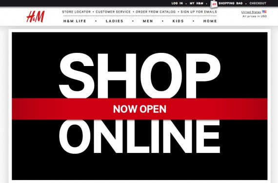 H&M Launches US Online Shop