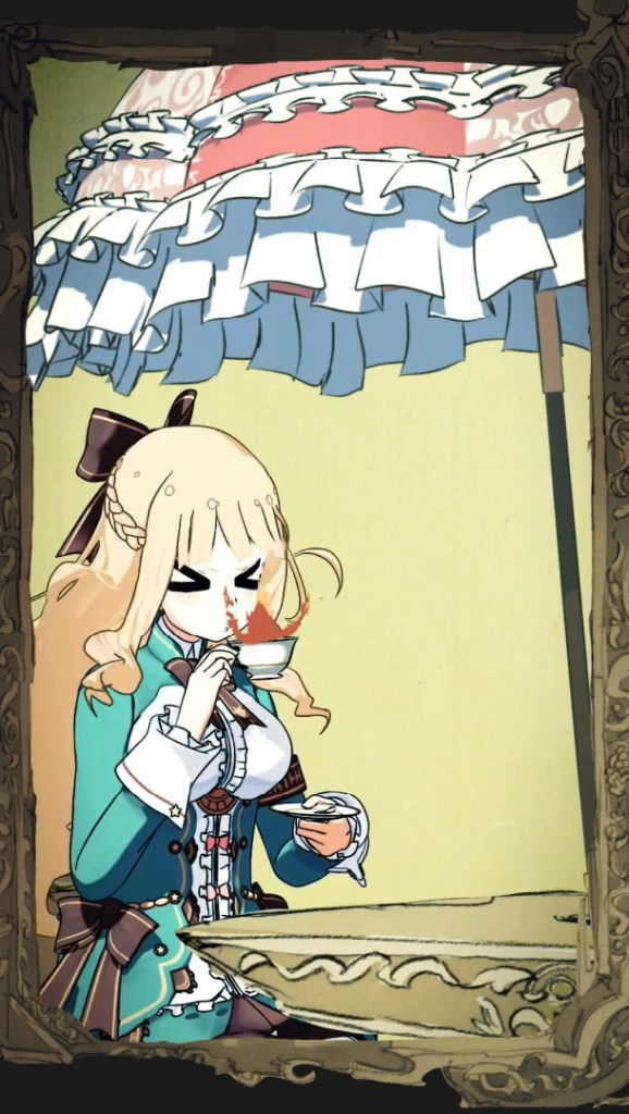 Picatrix tries to drink tea but it is too hot